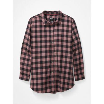 Women's Nicolet Lightweight Long-Sleeve Flannel Shirt Plus