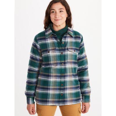 Women's Ridgefield Sherpa-Lined Long-Sleeve Flannel Shirt